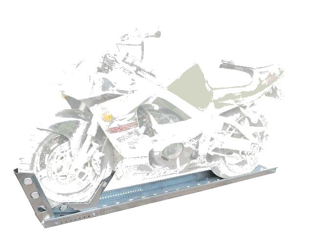 Držák motocyklu s automatickým zajištěním (pojezdová lyžina), délka 2060 mm, šířka 190 mm, obr. 2