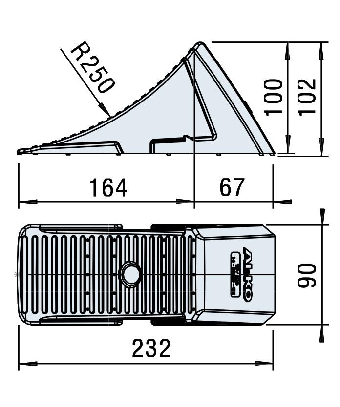 Klín zakládací AL-KO UK 10 K-2 (232 mm-800 kg) plastový, nákres