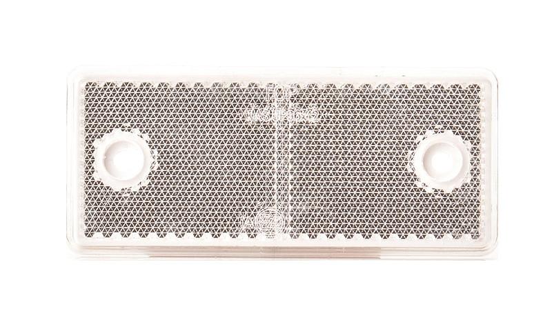 Odrazka bílá 96×42 mm s otvory