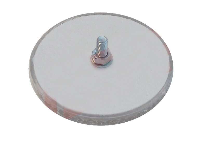 Odrazka bílá, se šroubkem, pr. 63 mm, zezadu