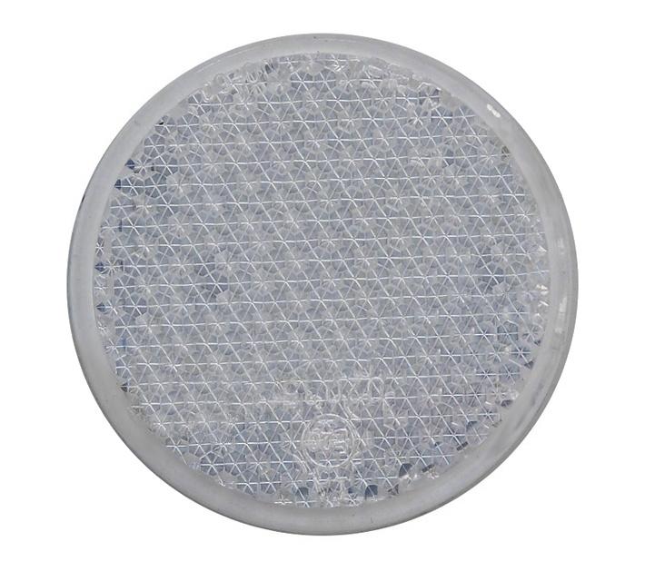 Odrazka bílá, se šroubkem, pr. 63 mm