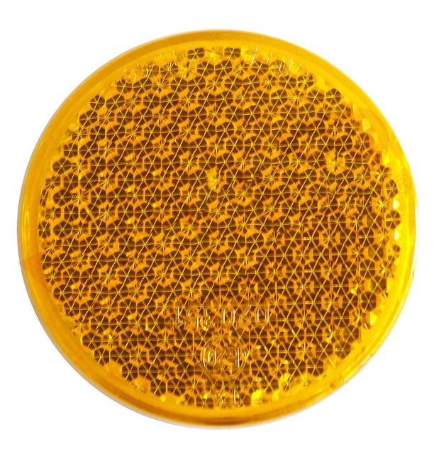 Odrazka oranžová pr. 63 mm samolepicí