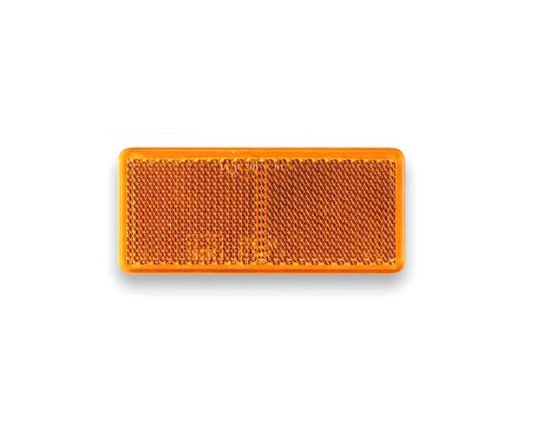 Odrazka oranžová, samolepící, obdélníková, 90×40 mm samolepicí
