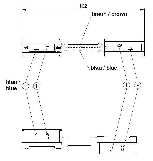 Propojka, spojka QS150 (SNAP-IN, Jaeger), schéma 2
