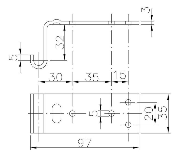 Protikus uzávěru protikus BVG 70-A, nákres
