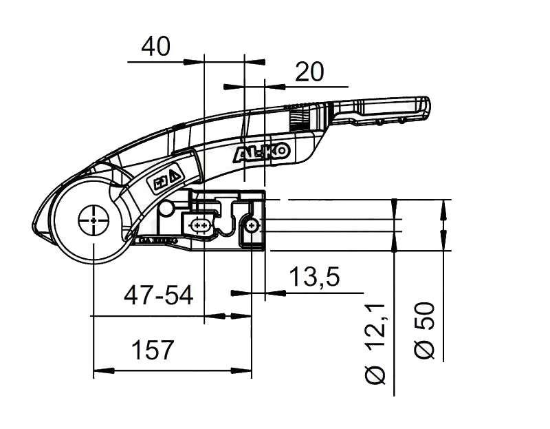 Stabilizátor AL-KO AKS 3004, nákres