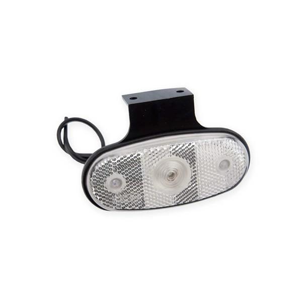 Světlo poziční diodové DOB-46DB-K LED, bílé s odrazkou, na gumovém držáku