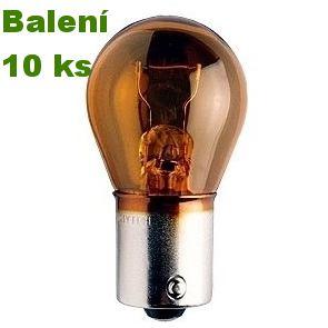 Žárovka 12V PY21W BaU15s oranžová – 10 ks