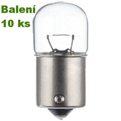 Žárovka 12V R10W Ba15s bajonet – 10 ks