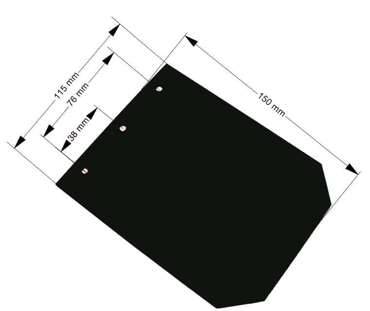 Zástěrka 150×115 mm polyetylénová bez loga, nákres