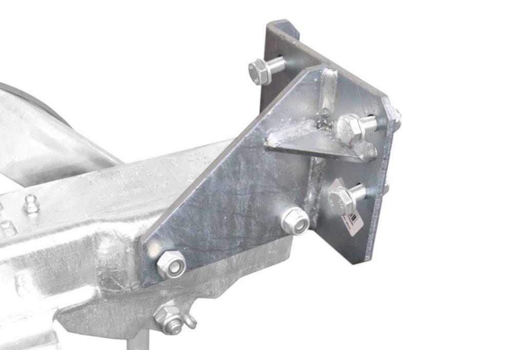 Držák podpěrného kola na brzdu Al-ko 161S, 251S, montáž zezadu, SPODNÍ MONTÁŽ, obr. 4