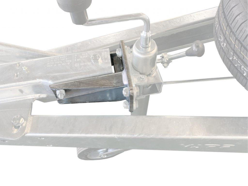 Držák podpěrného kola na brzdu Al-ko 161S, 251S, montáž zezadu, obr. 3