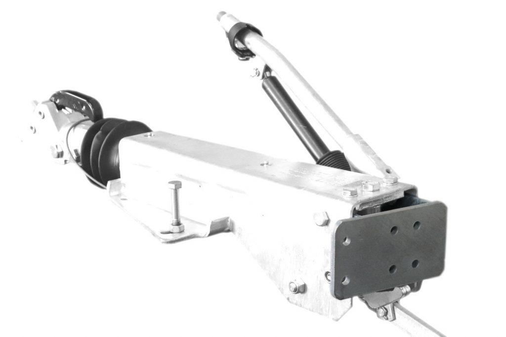 Držák podpěrného kola na brzdu Al-ko 2,8VB, montáž zezadu, obr. 2