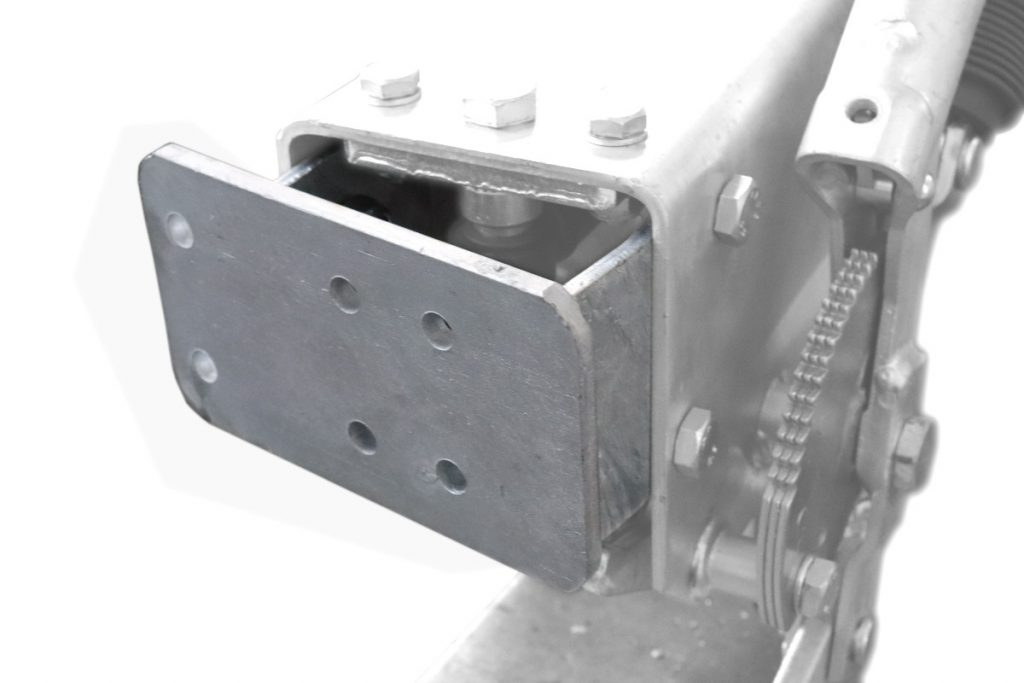 Držák podpěrného kola na brzdu Al-ko 2,8VB, montáž zezadu, obr. 3