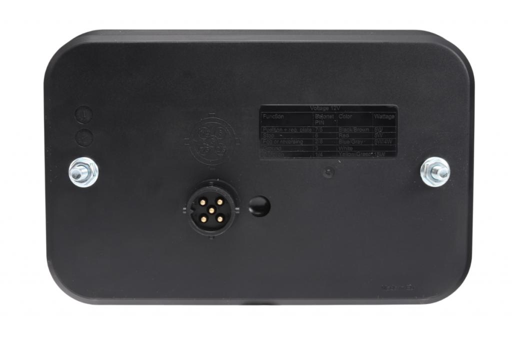 Světlo koncové LED – Fristom FT-270 sdružená LED 12V, P-BL-BR-KO-CO-RZ-, integrovaný kontrolbox, baj5, obr. 5