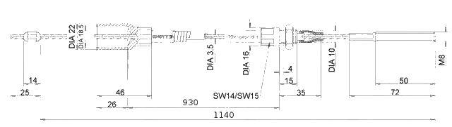 Lanovod Knott 930 -nákres