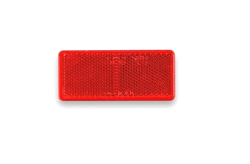 Odrazka červená 90×40 mm samolepicí