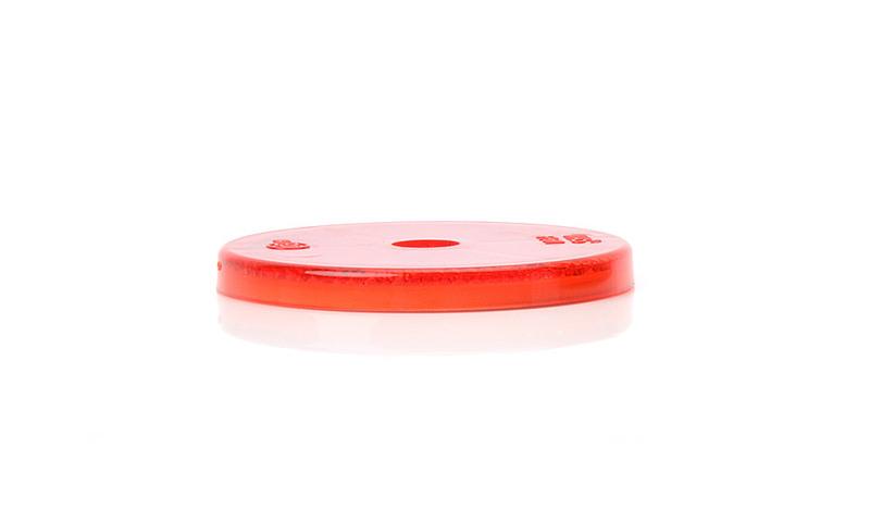 Odrazka červená, kulatá s dírou, pr. 61 mm, obr. 2
