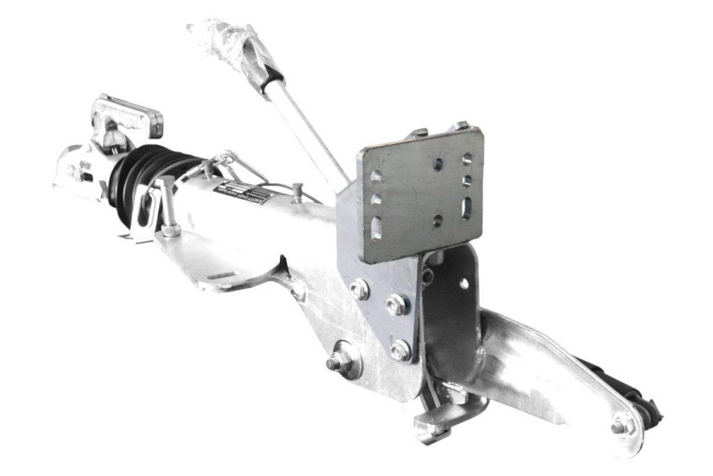 Držák podpěrného kola na brzdu KNOTT KF 27 – 30 , montáž zezadu, obr. 2