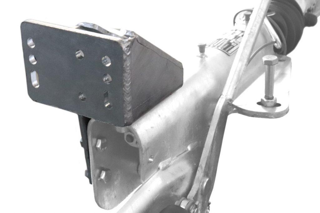 Držák podpěrného kola na brzdu KNOTT KF 27 – 30 , montáž zezadu, obr. 3
