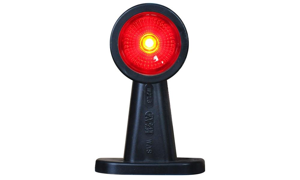 Světlo boční DIODOVÉ, tykadlo, červeno-bílé, LED WAS W21.6RF, 12-24V, 135 mm, QS150 , SNAP-IN kabel 0,5m, PRAVÁ nebo LEVÁ