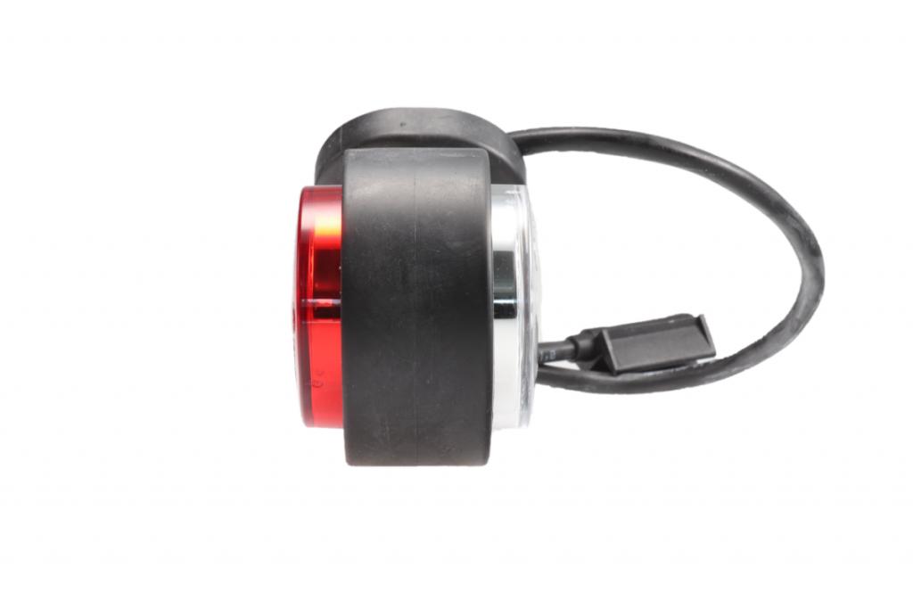 Světlo boční DIODOVÉ, tykadlo, červeno-bílé, LED WAS W21.7RF 299BC, 12-24V, levá 108 mm, QS150 , SNAP-IN kabel 0,5m, PRAVÁ, obr. 3