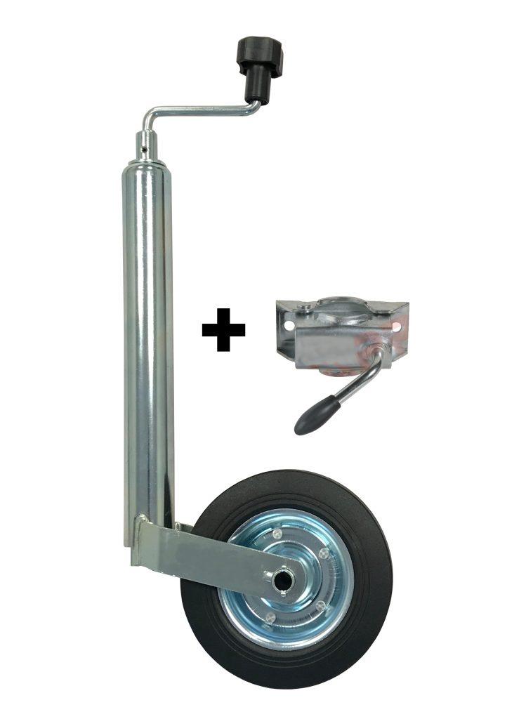 Podpěrné kolo s držákem, KNOTT prům. 48 mm (ocelový disk) 150 kg