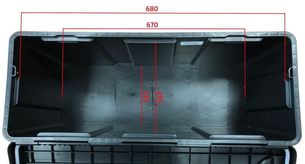 Box na nářadí BLACKIT L, dva zámky (horní otvírání) – 750x300x355 mm, rozměry vnitřní