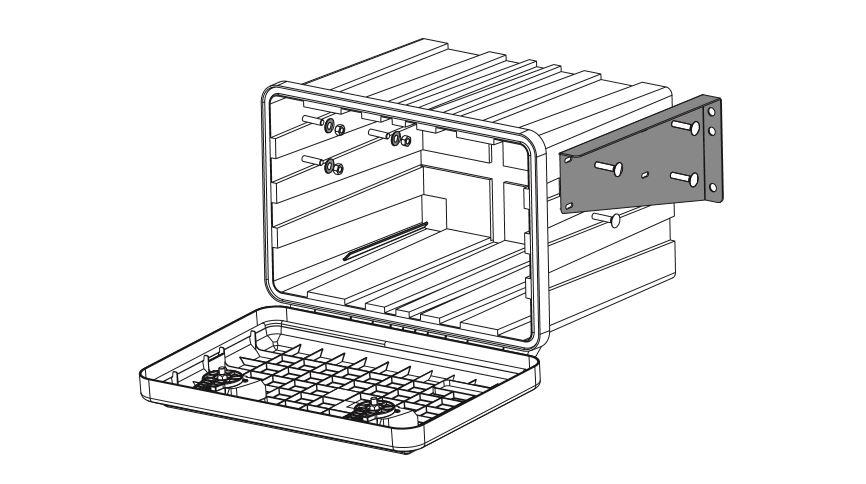 Držák boxu JUST 600, 750-R a 750 horizontální (sada pro 1 box), obr. 2