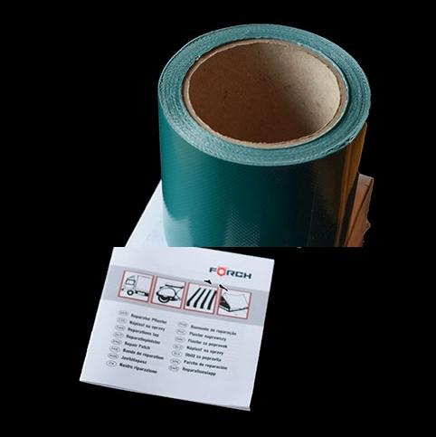 Opravná páska na plachty – samolepící 5m x 0,10 m, ZELENÁ, obr. 2